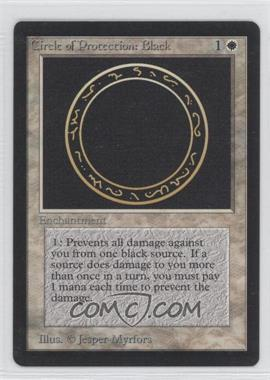 1993 Magic: The Gathering - Core Set Beta Booster Pack [Base] #NoN - Circle of Protection: Black