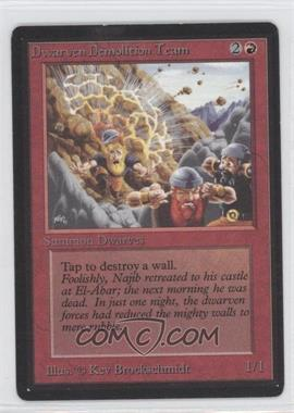 1993 Magic: The Gathering - Core Set: Beta Booster Pack [Base] #NoN - Dwarven Demolition Team