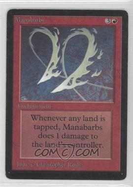 1993 Magic: The Gathering - Core Set: Beta Booster Pack [Base] #NoN - Manabarbs