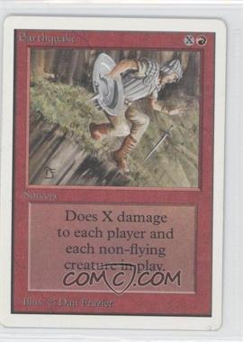 1993 Magic: The Gathering - Core Set: Unlimited Booster Pack [Base] #NoN - Earthquake
