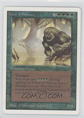 1993 Magic: The Gathering - Core Set: Unlimited Booster Pack [Base] #NoN - Force of Nature