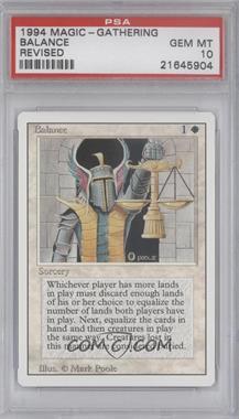 1994 Magic: The Gathering - Core Set: Revised - Booster Pack [Base] #NoN - Balance [PSA10]