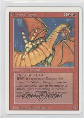 1994 Magic: The Gathering - Core Set: Revised Booster Pack [Base] #NoN - Shivan Dragon