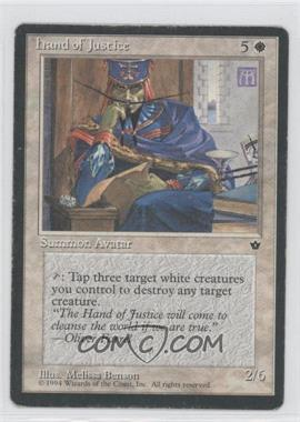 1994 Magic: The Gathering - Fallen Empires Booster Pack [Base] #NoN - Hand of Justice