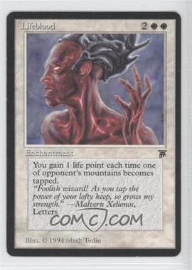 1994 Magic: The Gathering - Legends Booster Pack [Base] #NoN - Lifeblood