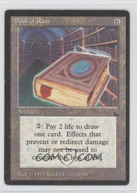 1994 Magic: The Gathering - The Dark Booster Pack [Base] #NoN - Book of Rass