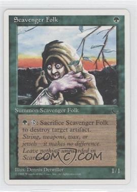 1995 Magic: The Gathering - Chronicles Booster Pack White Border Compilation Set #NoN - The Dark - Scavenger Folk