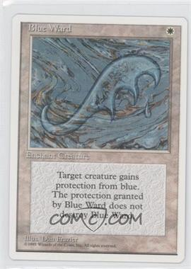 1995 Magic: The Gathering - Core Set: 4th Edition Booster Pack [Base] French #NoN - Blue Ward