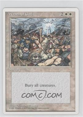 1995 Magic: The Gathering - Core Set: 4th Edition Booster Pack [Base] French #NoN - Wrath of God