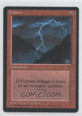 1995 Magic: The Gathering - Core Set: 4th Edition Booster Pack [Base] Italian #NoN - Lightning Bolt