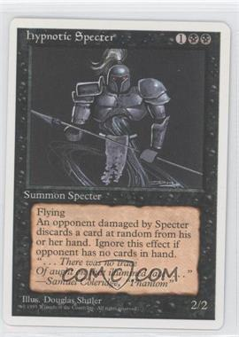 1995 Magic: The Gathering - Core Set: 4th Edition Booster Pack [Base] #NoN - Hypnotic Specter
