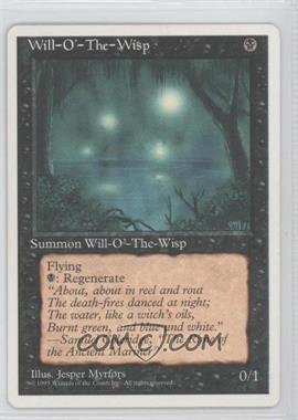 1995 Magic: The Gathering - Core Set: 4th Edition Booster Pack [Base] #NoN - Will-o'-the-Wisp