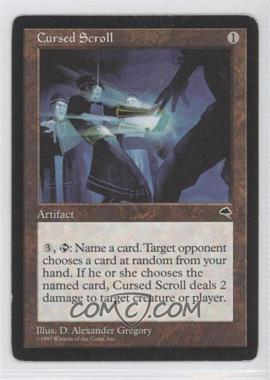 1997 Magic: The Gathering - Tempest - Booster Pack [Base] #NoN - Cursed Scroll