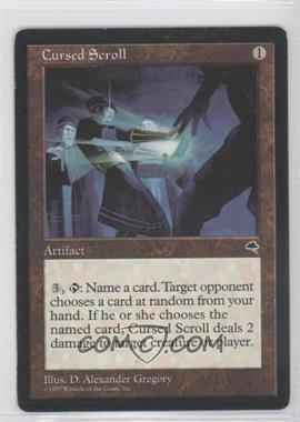 1997 Magic: The Gathering - Tempest Booster Pack [Base] #NoN - Cursed Scroll