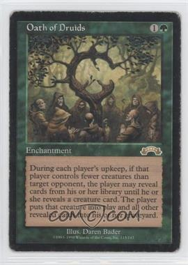 1998 Magic: The Gathering - Exodus Booster Pack [Base] #115 - Oath of Druids