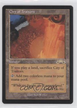 1998 Magic: The Gathering - Exodus Booster Pack [Base] #143 - City of Traitors R :L: