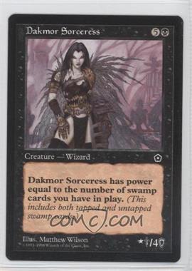 1998 Magic: The Gathering - Portal - Starter Set 2nd Age #NoN - Dakmor Sorceress