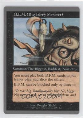 1998 Magic: The Gathering - Unglued Booster Pack [Base] #28 - B.F.M. (Big Furry Monster) (Left Half)