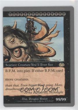 1998 Magic: The Gathering - Unglued Booster Pack [Base] #29 - B.F.M. (Big Furry Monster) (Right Half)