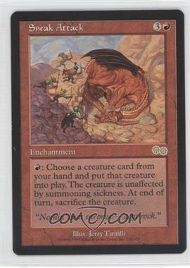 1998 Magic: The Gathering - Urza's Saga - Booster Pack [Base] #218 - Sneak Attack R :R: