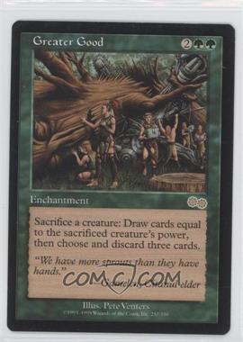 1998 Magic: The Gathering - Urza's Saga - Booster Pack [Base] #257 - Greater Good