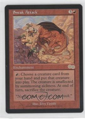 1998 Magic: The Gathering - Urza's Saga Booster Pack [Base] #218 - Sneak Attack R :R: