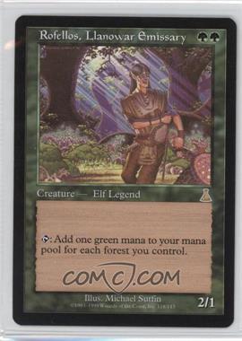 1999 Magic: The Gathering - Urza's Destiny - Booster Pack [Base] #118 - Rofellos, Llanowar Emissary
