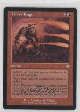 2000 Magic: The Gathering - Invasion - Booster Pack [Base] #178 - Urza's Rage