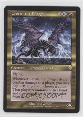 2000 Magic: The Gathering - Invasion - Booster Pack [Base] #242 - Crosis, the Purger