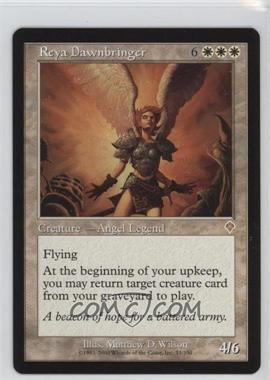 2000 Magic: The Gathering - Invasion - Booster Pack [Base] #33 - Reya Dawnbringer