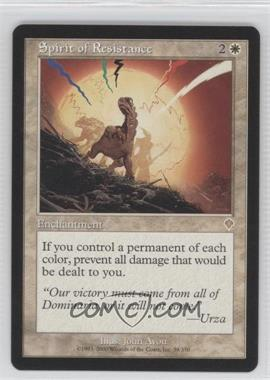 2000 Magic: The Gathering - Invasion - Booster Pack [Base] #38 - Spirit of Resistance
