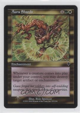 2000 Magic: The Gathering - Invasion Booster Pack [Base] Foil #233 - Aura Shards