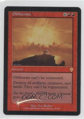 2000 Magic: The Gathering - Invasion Booster Pack [Base] Foil #N/A - Obliterate