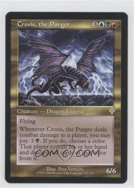 2000 Magic: The Gathering - Invasion Booster Pack [Base] #242 - Crosis, the Purger