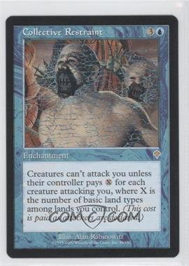 2000 Magic: The Gathering - Invasion Booster Pack [Base] #49 - Collective Restraint
