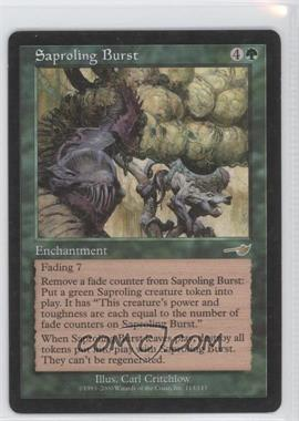2000 Magic: The Gathering - Nemesis Booster Pack [Base] #113 - Saproling Burst