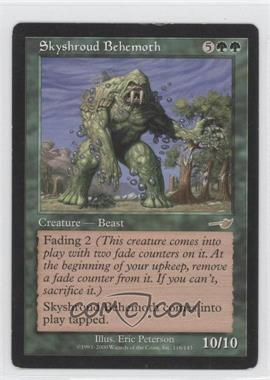 2000 Magic: The Gathering - Nemesis Booster Pack [Base] #116 - Skyshroud Behemoth