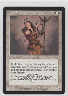 2000 Magic: The Gathering - Nemesis Booster Pack [Base] #12 - Lin Sivvi, Defiant Hero