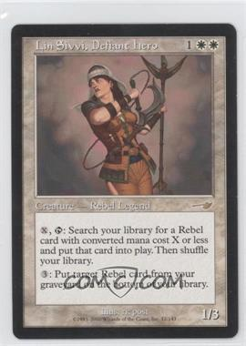 2000 Magic: The Gathering - Nemesis Booster Pack [Base] #12 - Lin Sivvi, Defiant Hero