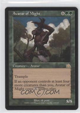 2000 Magic: The Gathering - Prophecy Booster Pack [Base] #109 - Avatar of Might