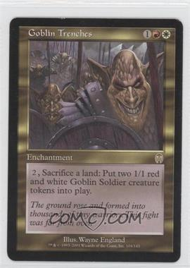2001 Magic: The Gathering - Apocalypse Booster Pack [Base] #104 - Goblin Trenches