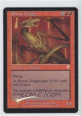 2001 Magic: The Gathering - Core Set: 7th Edition - Booster Pack [Base] - Foil #218 - Shivan Dragon