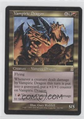 2001 Magic: The Gathering - Odyssey Booster Pack [Base] #296 - Vampiric Dragon