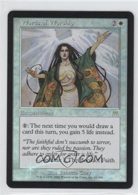 2002 Magic: The Gathering - Onslaught - Booster Pack [Base] - Foil #61 - Words of Worship