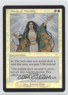 2002 Magic: The Gathering - Onslaught Booster Pack [Base] Foil #61 - Words of Worship