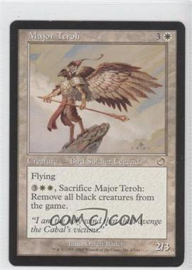 2002 Magic: The Gathering - Torment Booster Pack [Base] #8 - Major Teroh
