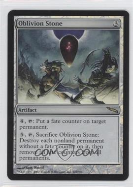 2003 Magic: The Gathering - Mirrodin Booster Pack [Base] Foil #222 - Oblivion Stone