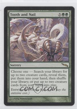 2003 Magic: The Gathering - Mirrodin Booster Pack [Base] #134 - Tooth and Nail