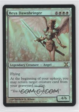 2007 Magic: The Gathering - Core Set: 10th Edition Booster Pack [Base] Foil #35 - Reya Dawnbringer