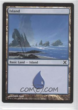 2007 Magic: The Gathering - Core Set: 10th Edition Booster Pack [Base] #369 - Island